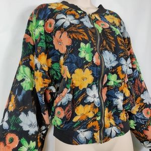 Vintage Speed Limit MPH flower beaded jacket